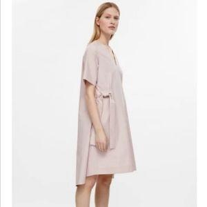 COS pale dusty pink dress- chic modern minimalism